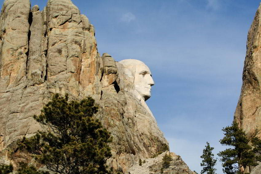 George Washington Profile in Granite