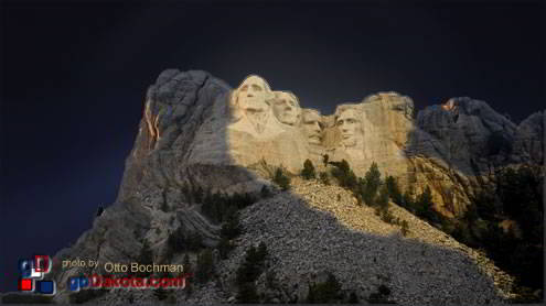 Mount Rushmore National Memorial was fitted with new evening lighting.
