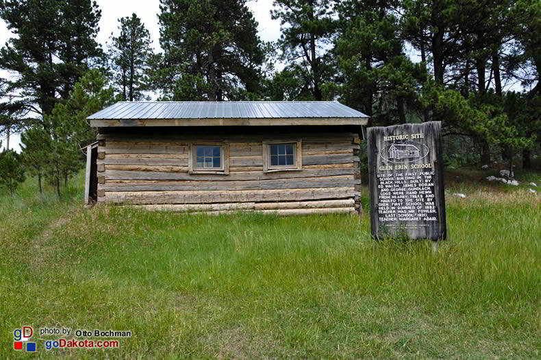 site of first school building in the Black Hills