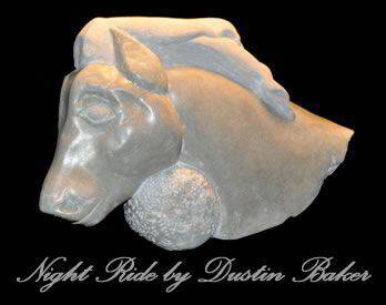 Night Ride is a sculpture by Dustin Baker