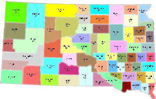 The Counties in South Dakota