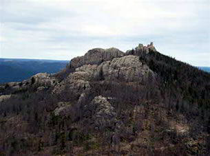 Aerial view of Black Hills National Forest South Dakota 2011